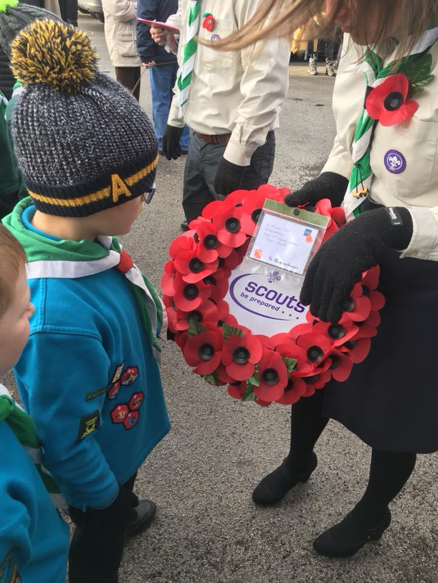 1st Heath Hayes Scout Group Remembrance Parade